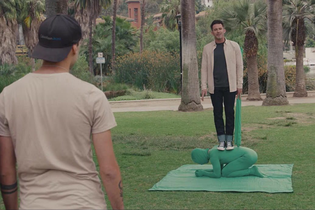 Magician Justin Willman performs magic tricks on his hidden camera show Magic for Humans on Netflix