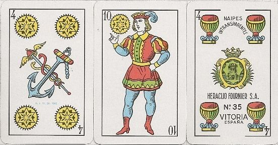 Early playing cards featuring latin suits inspired by Tarot Cards