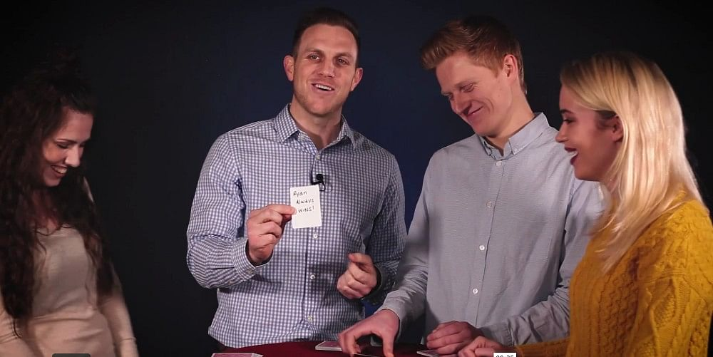 Magician Ryan Schlutz performs easy card tricks from his Super Strong Super Simple magic dvd and download