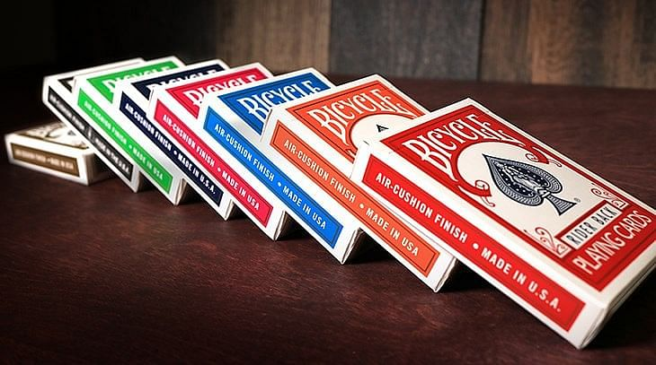 bicycle deck rider back playing cards