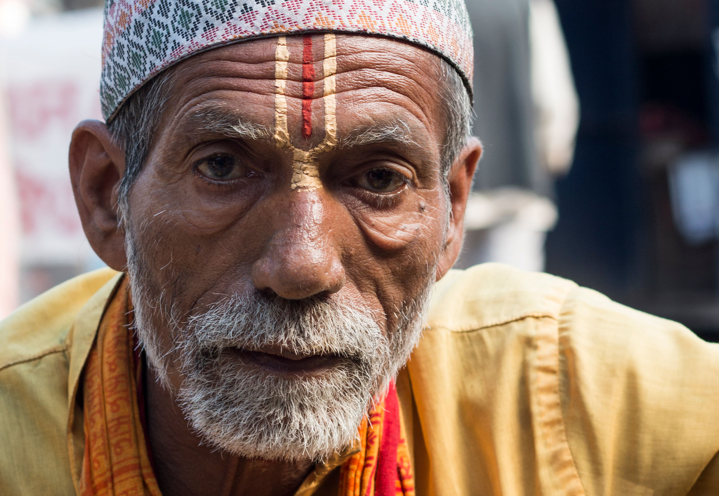 Brahmin Priest stares away from the camera