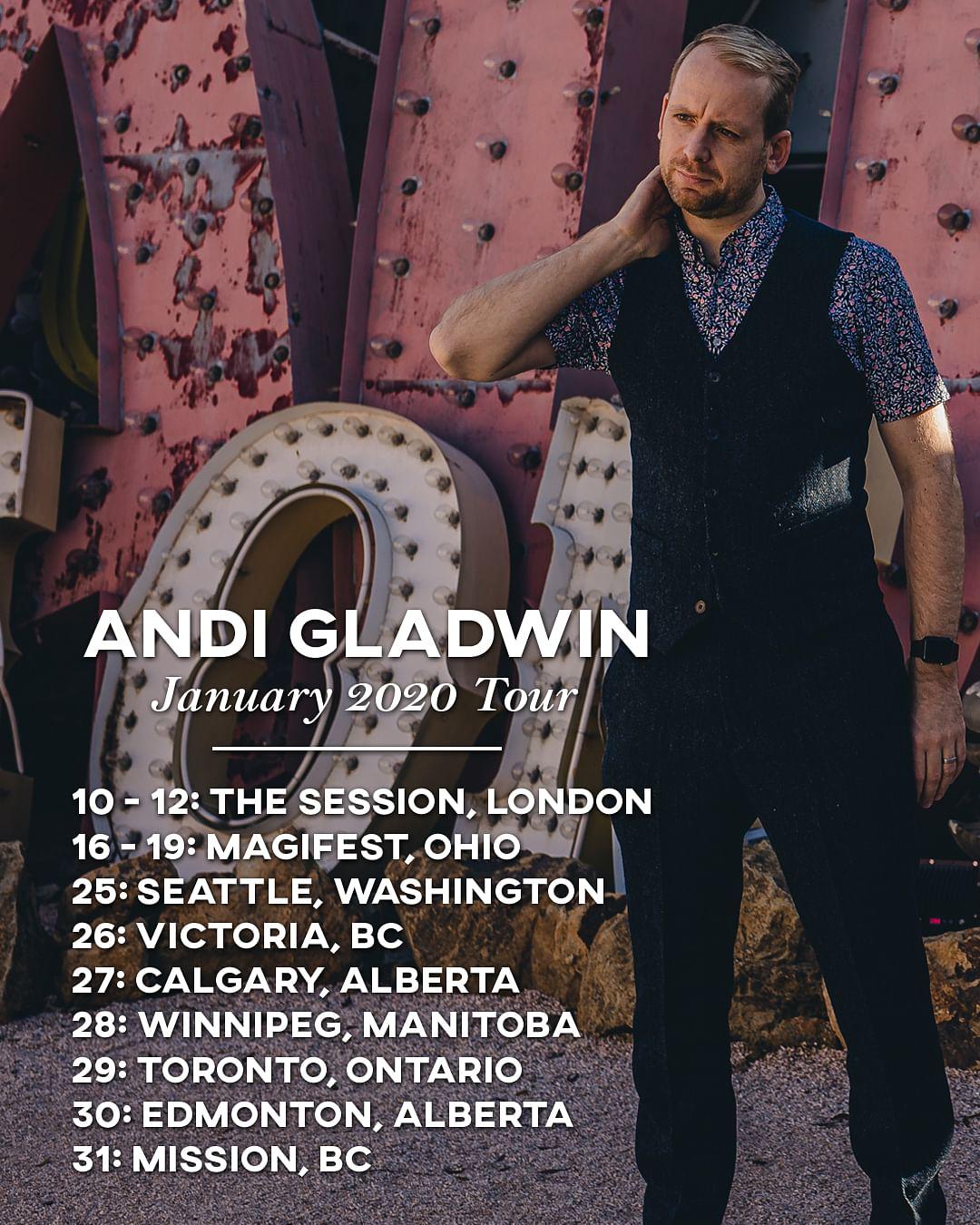 Andi Gladwin lecture tour