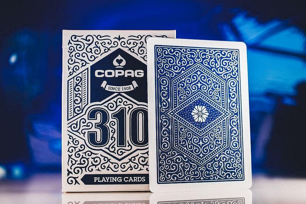 Blue Copag playing cards for poker playing and poker games