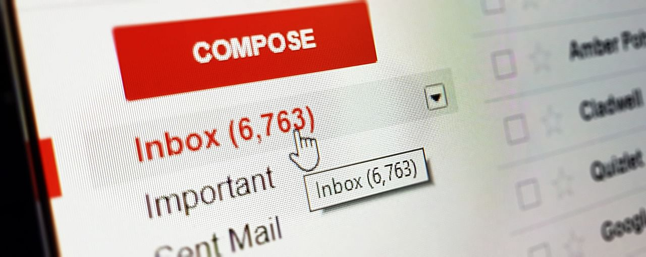 email inbox overflowing with emails