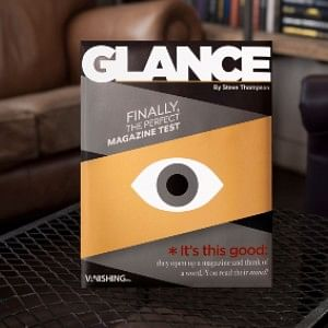 Glance magazine used by mentalists to perform a book test or mind reading trick
