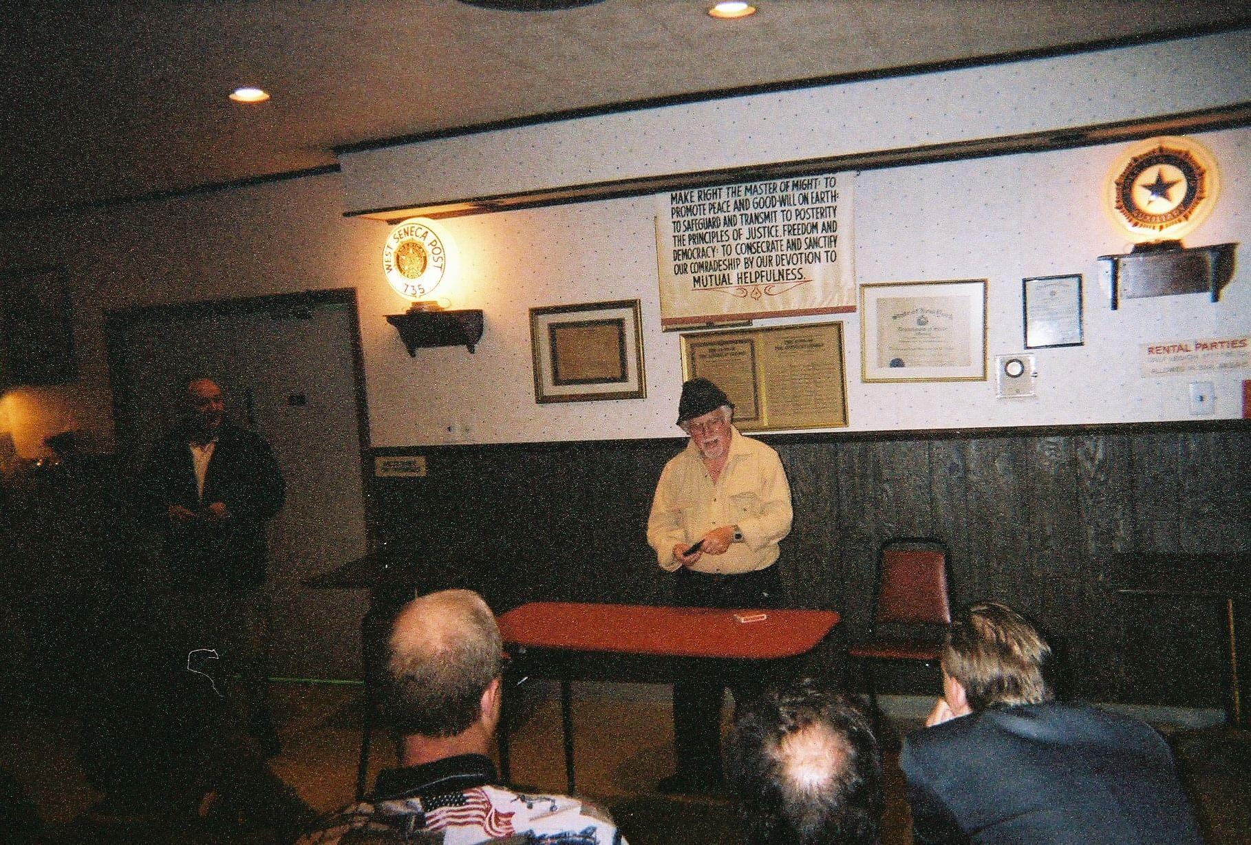 Howard perofrming at a magic club