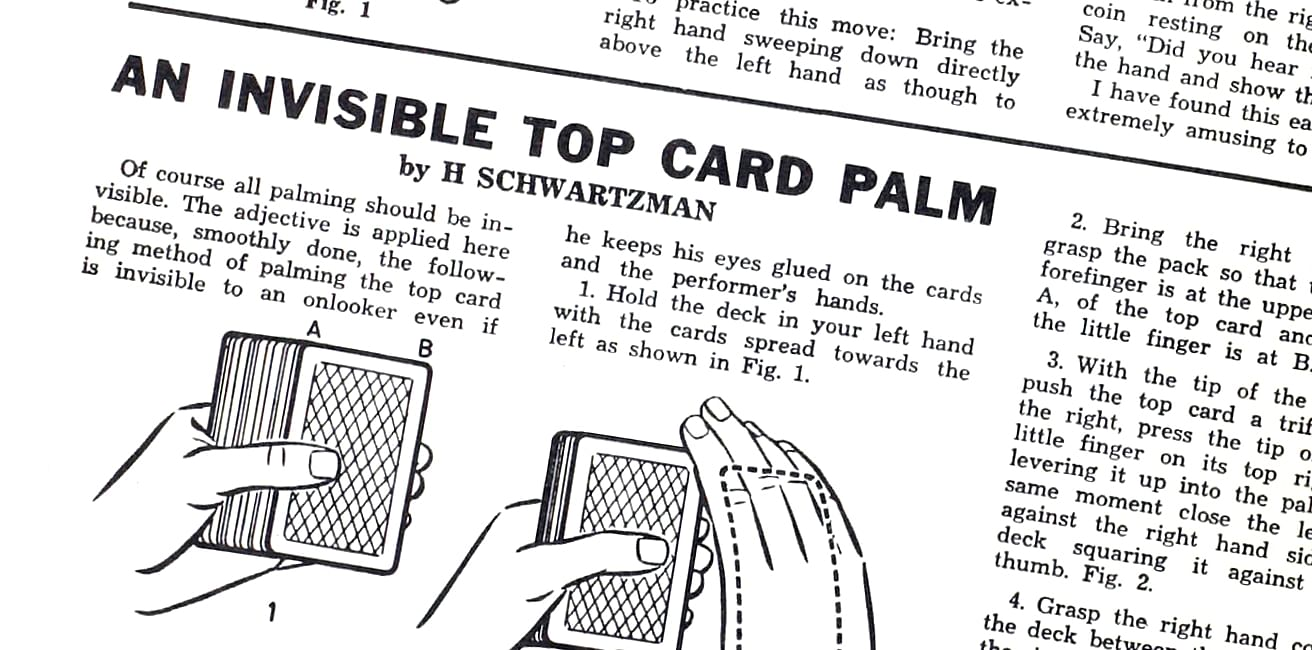 Invisible Top Card Palm