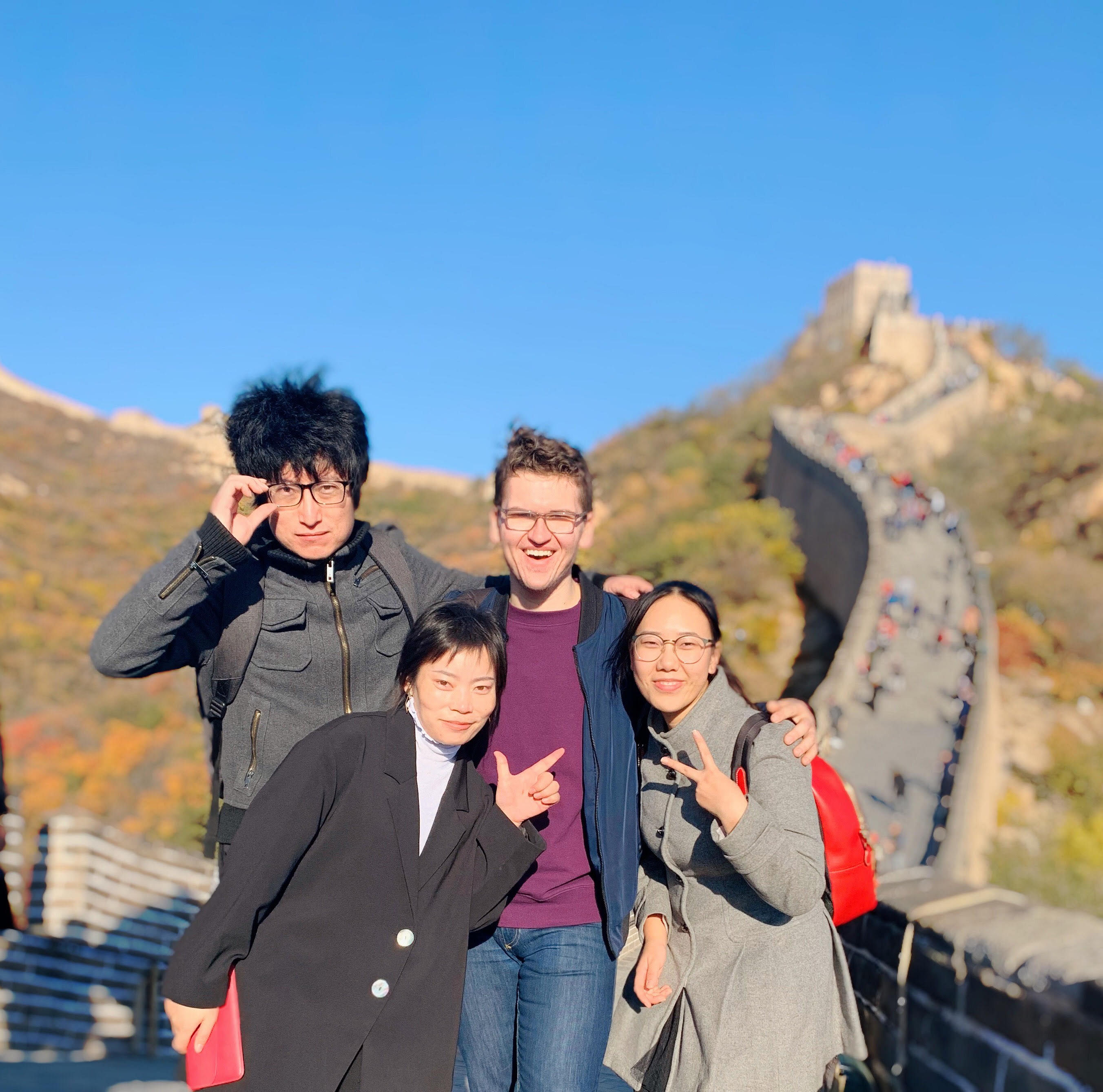 Vanishing Inc. team on Great Wall of China