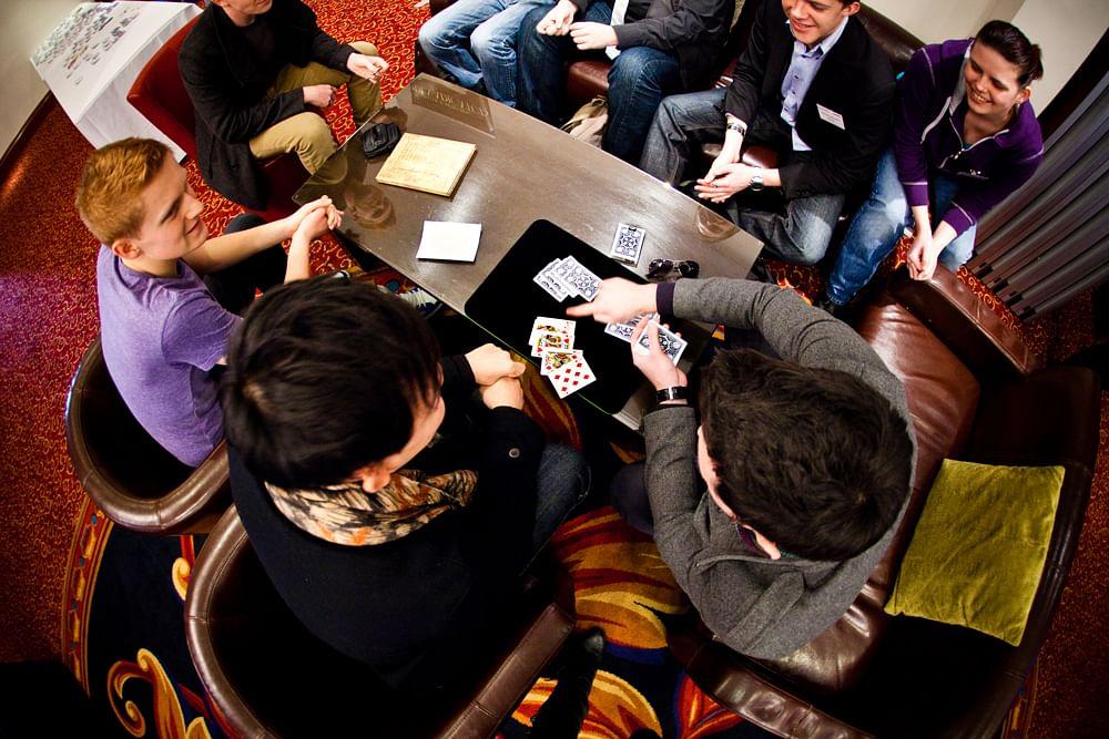 Adults learning magic