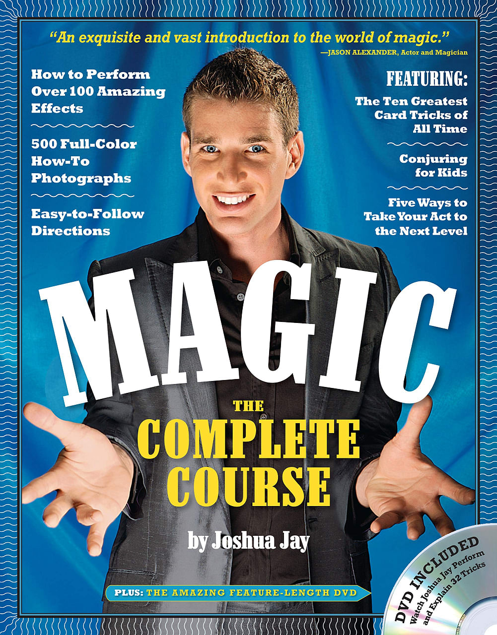 Magician joshua jay performs a magic trick on the cover of his magic book for beginners