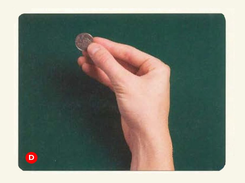 Magician Joshua Jay shows the secret to a beginner coin magic trick where you produce a coin from behind an ear