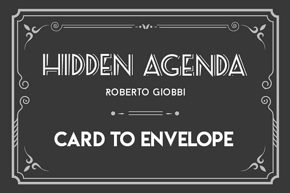 Hidden Agenda | Card to Envelope & Wallet