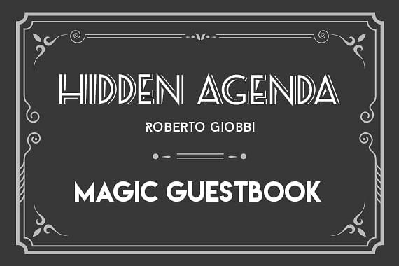 Hidden Agenda | Magic Guestbook
