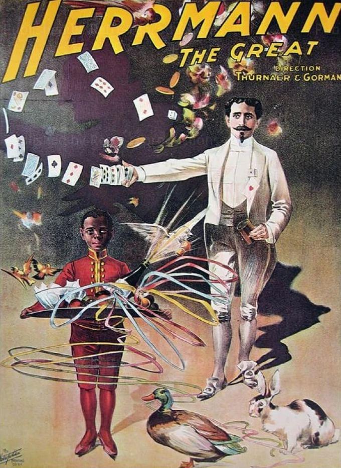 Vintage Alexander Herrmann The Great Magic Poster