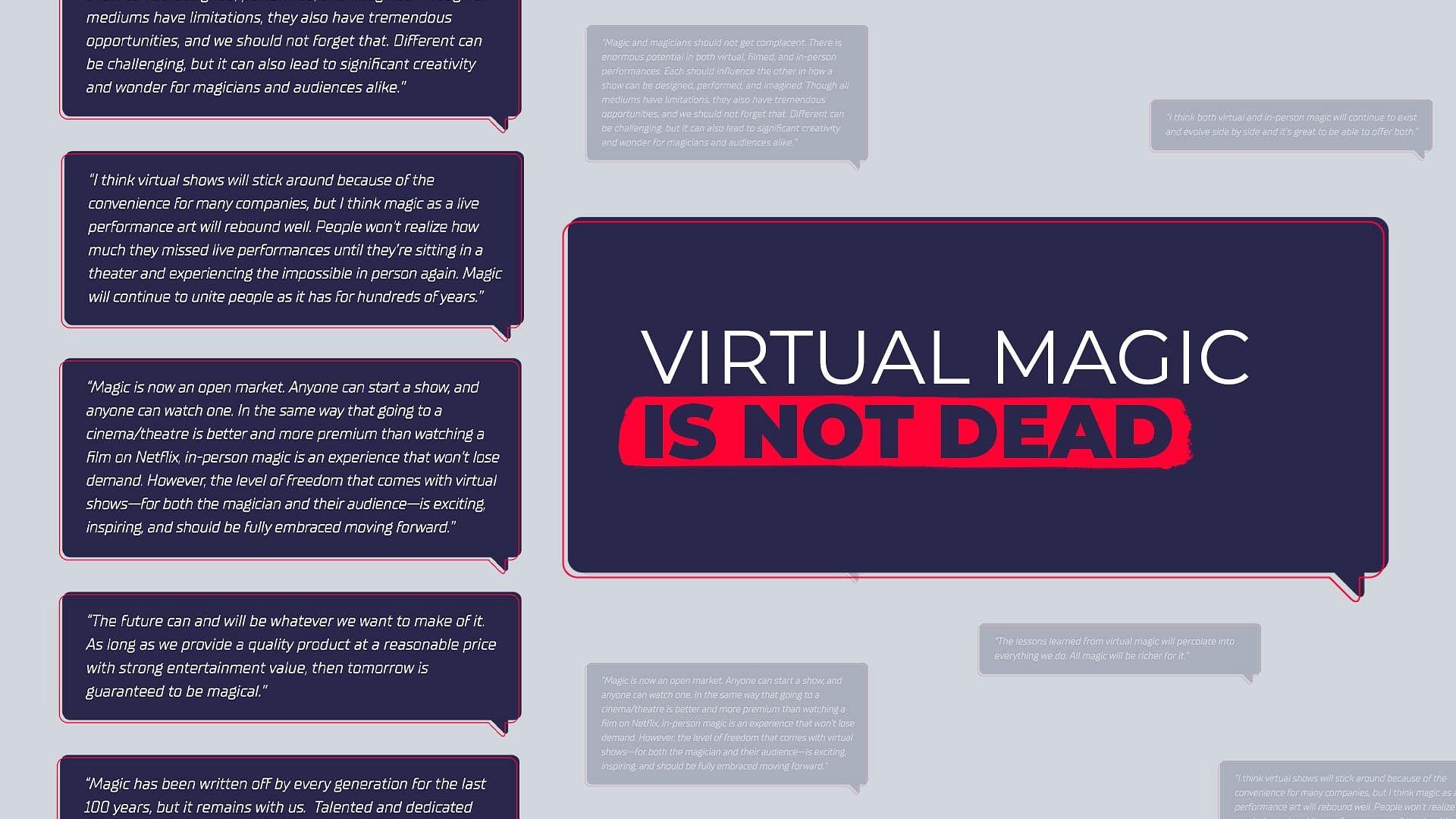 Zoom magic is not dead