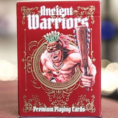 Ancient Warriors  Playing Cards (Red)