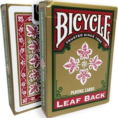 Bicycle Leaf Back Playing Cards (Red)