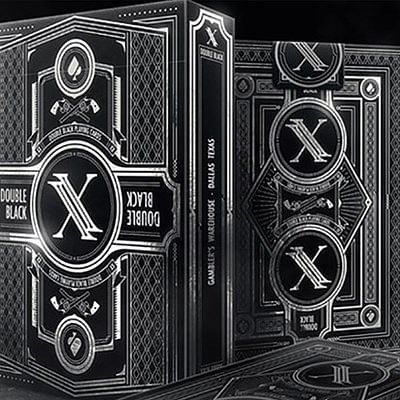 Double Black Playing Cards (Classic Edit…