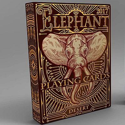 Elephant Playing Cards - Desert