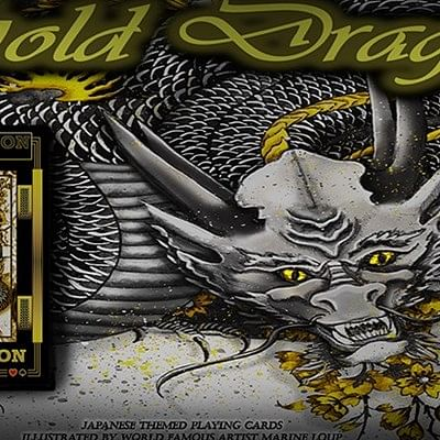 Gold Dragon  Playing Cards
