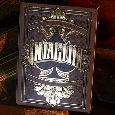 Intaglio Black Playing Cards
