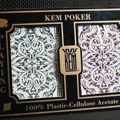 KEM Poker Plastic Playing Cards - Standa…