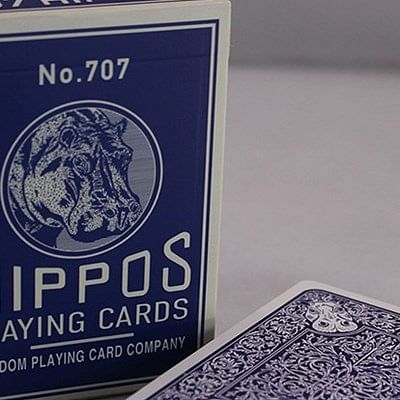 No.707 Hippos Playing Cards