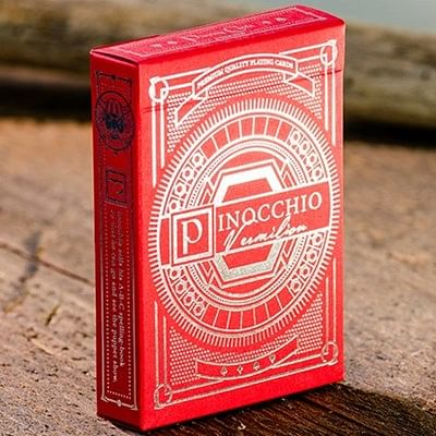 Pinocchio Vermilion Playing Cards