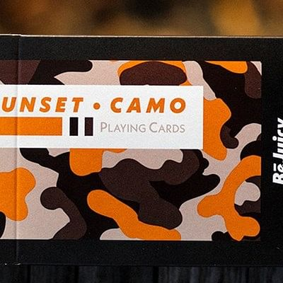 Sunset Camo Playing Cards