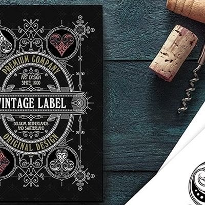 Vintage Label Playing Cards (Gold Gilded…