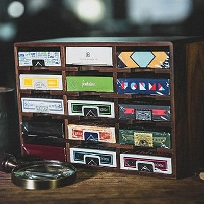 Playing card display cases