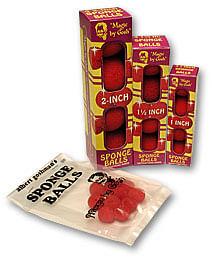 "1"" 4 Super Soft Sponge Balls (Red) - magic"
