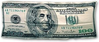 $100 bill Silk 36 inch - magic