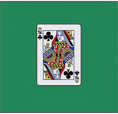 12 inch Card Silk - Queen Of Clubs - magic