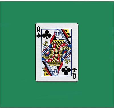 12 inch Card Silk - Queen Of Clubs - magic