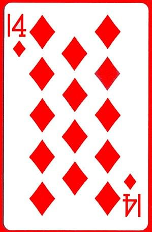 14 of Diamonds Card - magic