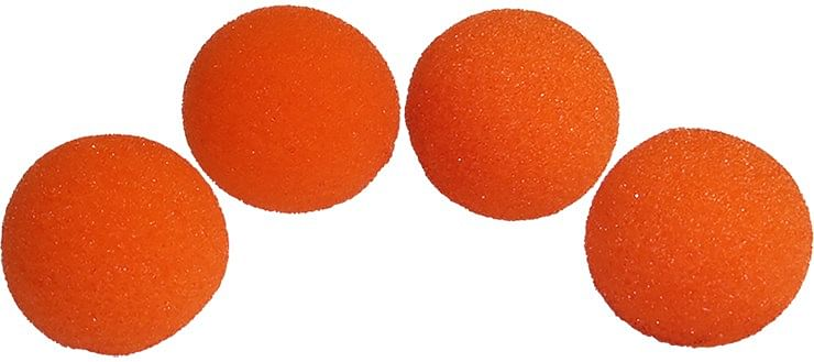 1.5 inch HD Ultra Soft  Orange Sponge Ball Set of 4 from Magic - magic