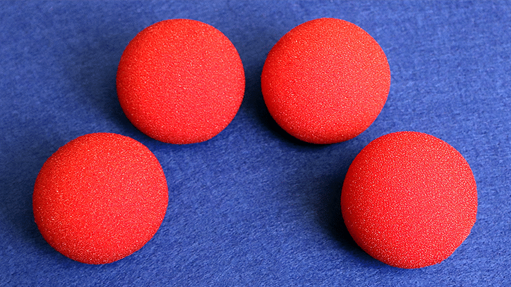 1.5 inch Regular Sponge Ball  Bag of 4 from Magic - magic
