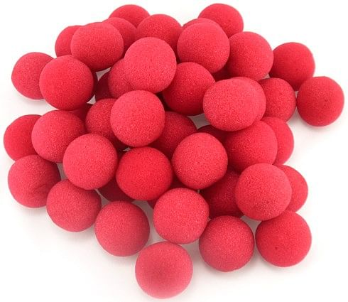 "1.5"" Sponge Balls Red (50 pack) - magic"