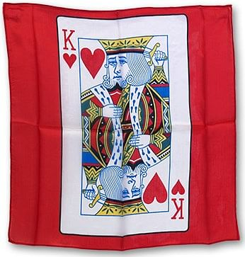 "18"" King of Hearts Card Silk (Red) - magic"