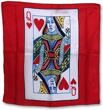 "18"" Queen of Heart Card Silk (Red) - magic"