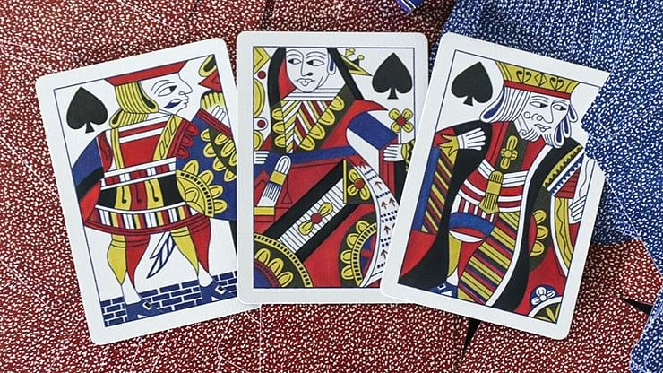 Squared Faro #366 Gilded Playing Cards (Blue)