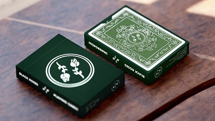 2nd Edition Black Roses Playing Cards - magic