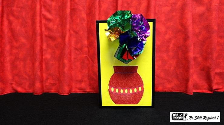 3D Flower Bouquet Blooming Vase