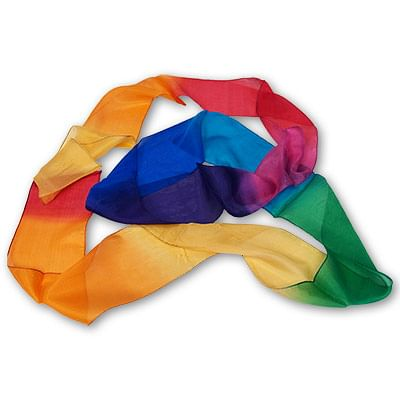 "4"" by 9' Multicolor Silk Streamer - magic"