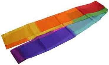 """4""""x 3m Multicolor Silk Streamer - magic"""