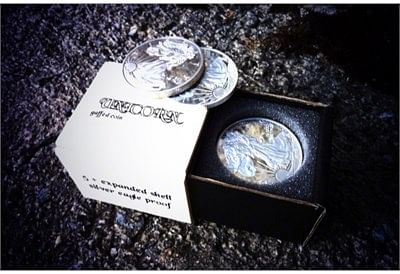 5 Regular Coin + Expanded Shell - Silver Eagle Proof - magic