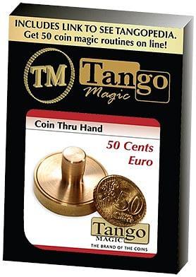50 cents Euro Thru Hand - magic