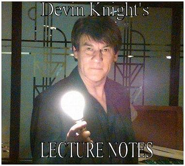 A Knight of Magic Devin Knight's 2009 Lecture Tour Notess - magic