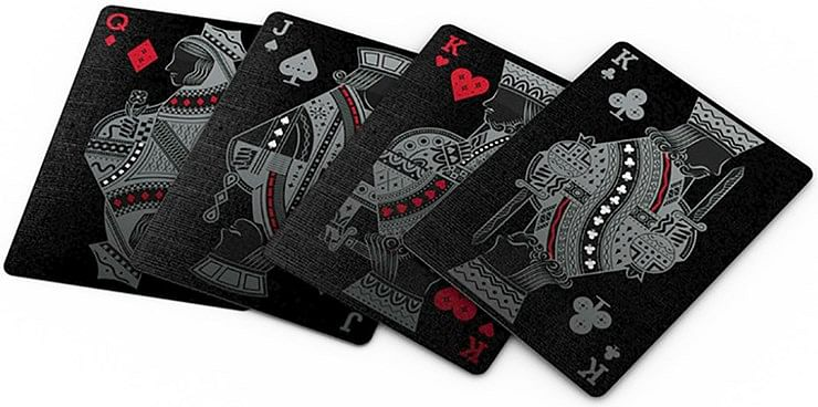 Agenda Black Playing Cards